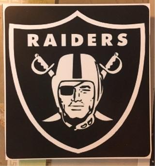 "OAKLAND RAIDERS NFL - 3 x 3"" MAGNET"