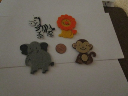 4 zoo animal magnets