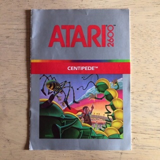 Centipede video game instruction manual for Atari 2600