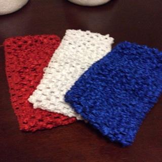 Three (3) Crochet, Stretchable Headbands . #42
