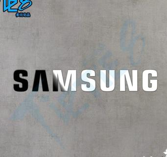 Free shipping 3.1X0.6cm 1pcs / lot Silver Samsung logo metal paste Samsung galaxy S3 s4 s5 metal s