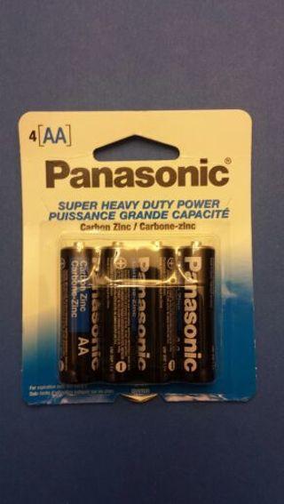 4 Panasonic AA Batteries For Christmas ' s Toys