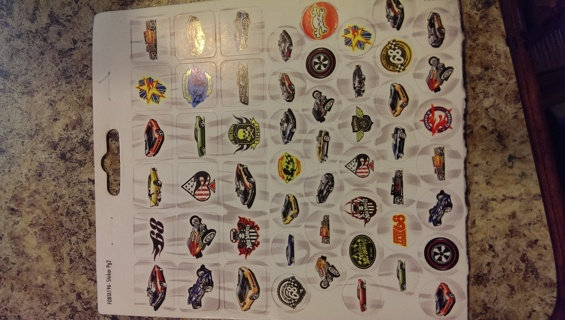 Hot Wheels Stickers - 99 stickers