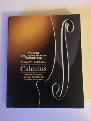 Student Solutions Manual Single Variable Calculus by James Stewart 1995 FREE SHIP