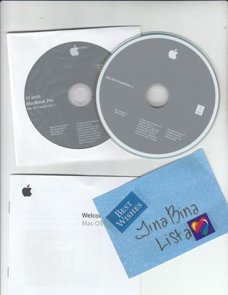 MAC OS X Tiger 10.4 CD advanced operating system Apple 2006 install disc reinstall computer software