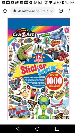 """❤✨❤✨❤️BRAND NEW BLUE """"CRA-Z-ART"""" STICKER SURPRISE BOOK❤✨❤✨❤(12 PAGES/OVER 1000 STICKERS)#2"""