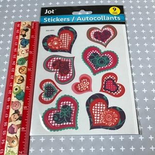 Lace Hearts Vinyl like sticker sheet NEW