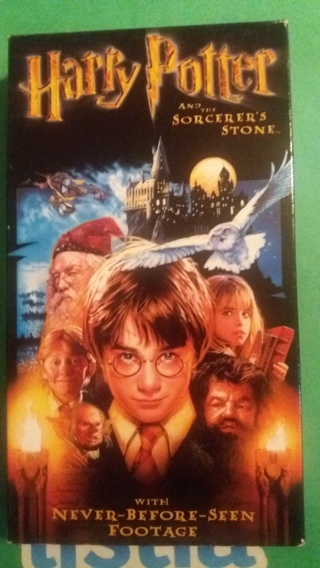 vhs harry potter and the sorcerer's stone free shipping