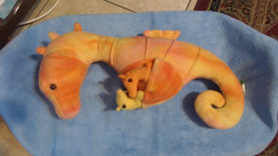 Seahorse with 3 baby seahorses stuffed toy