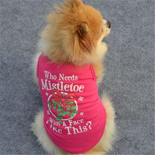 Summer Dog Cat Vest Shirt Printed Pet Puppy Cotton Clothes Coat Teddy Costume