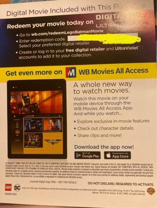 The Lego Batman Movie Digital movie