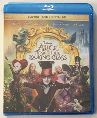 Disney Alice Through The Looking Glass (Blu-Ray + DVD + Digital HD) Movie - Brand New Factory Sealed