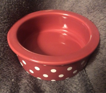 Ceramic Polka Dot Pet Food Bowl