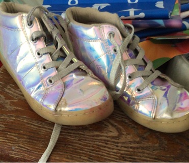The childrens place holographic shoes