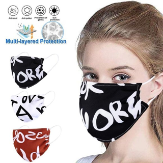 3-PACK Poly Mouth Face Masks Washable Cover Mask FREE SHIPPING