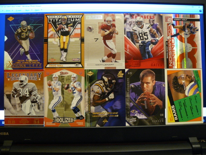 (10) Football Cards Stars, HOFers, Serial #'d or Inserts - LOT 1 - Read Details