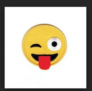 Emoji Emoticon IRON ON PATCH Applique Badge Silly Face Accessories