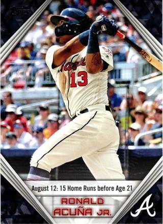 2019 Topps Ronald Acuna Jr Atlanta Braves Highlights #RA-6!