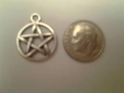 1  pentagram Tibetan Silver Charm