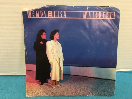 L576 WENDY & LISA 45 RPM RECORD WATERFALL THE LIFE WITH JACKET 1987