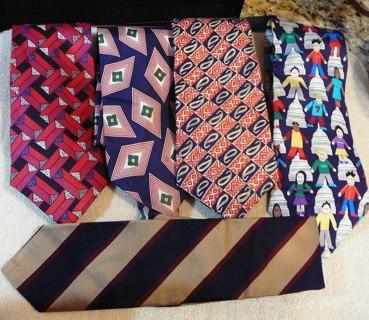 5 new or Barely worn Fashionable Designer Men's Ties, 417, Don Loper, etc