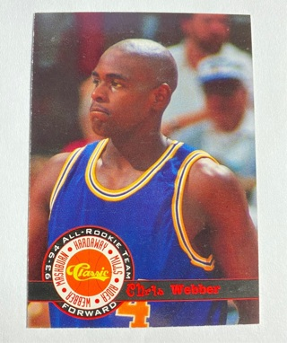 1994 Classic Draft #13 Chris Webber 93-94 All Rookie Team