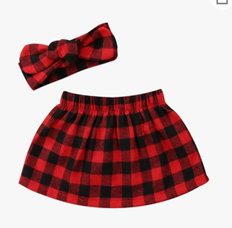 Baby Girl Long Sleeve Plaid Outfit size 18-24 Month