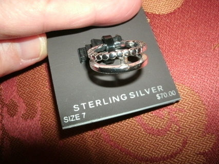 New Solid Sterling Ring, retails $70 - size 7