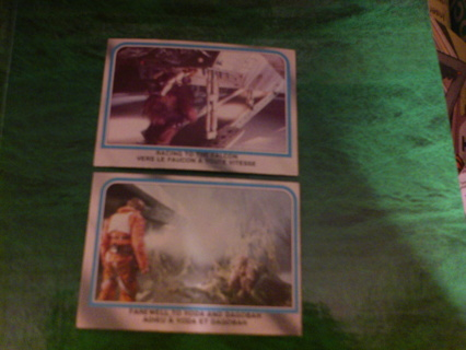 2 1980 Opee Chee Star Wars Empire Strikes Back cards