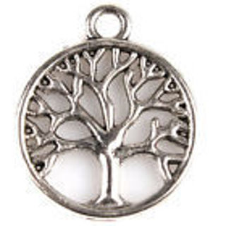 1 new Silver tone Tree of life  charm