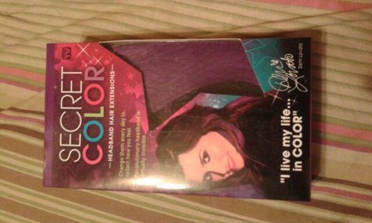 Brand New Unopened. Secret Color Headband Hair Extensions.Purple. No Gins Please read description.
