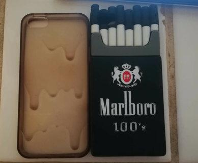Iphone case 5 5S euc Marlboro clear drip