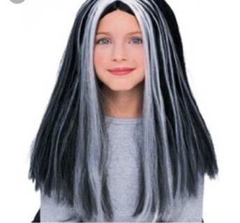 Black and grey wig