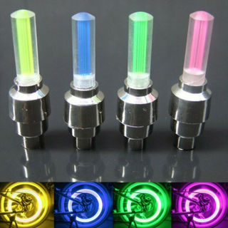 4x NEW LED Motorcycle Cycling Bike Bicycle Wheel Tire Valve Flashing Light Car Lamp