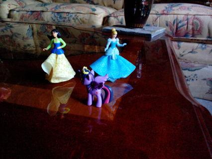 Disney Princess Kinder Joy toys and MLP Finder Keepers toy