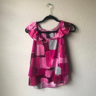 Pink Scalloped New York & Company Top