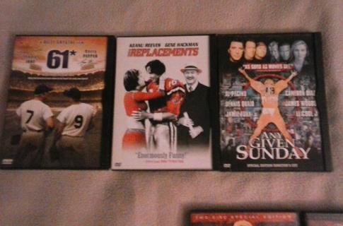 3 dvd lot sports movies