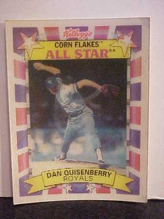 Free 1992 Dan Quisenberry Kelloggs Corn Flakes 3 D