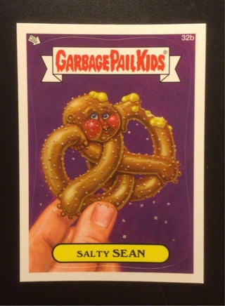 """2012 Topps Garbage Pail Kids ticker card #32b """"SALTY SEAN"""" See Photos for more details."""