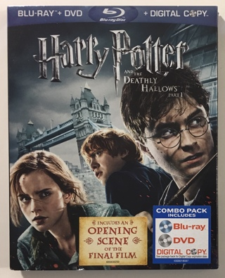 Harry Potter and the Deathly Hallows: Part 1 Blu-ray / DVD 3-Disc Combo - Mint Discs!