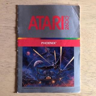 Phoenix video game instruction manual for Atari 2600