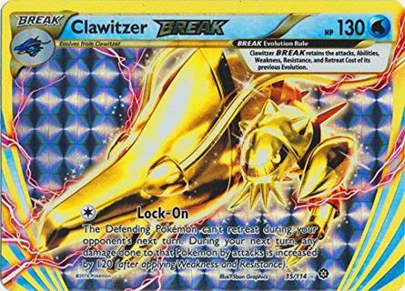 Clawitzer Break 35/11 Break Rare XY: Steam Siege Singles Card Pokemon Cards TCG