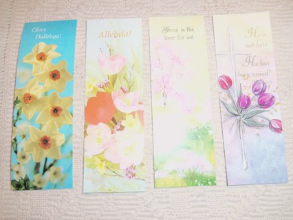 Four brand new Christian bookmarks - Spring flowers - Easter
