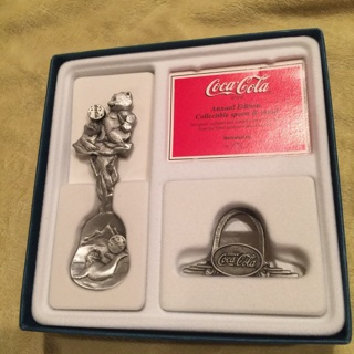 Coca Cola Coke Spoon and Stand COLLECTIBLE