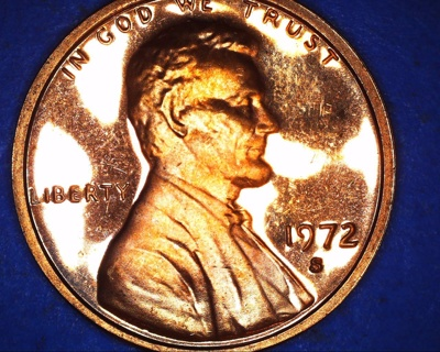1972 s TONE PROOF LINCOLN PENNY
