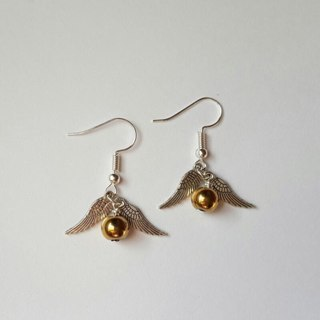 [GIN FOR FREE SHIPPING] The Golden Snitch Harry Porter Earrings