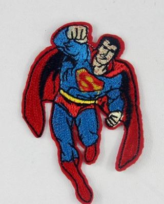 Vintage IRON ON SUPERMAN Patch FREE SHIPPING Clothing accessories Embroidery Applique Decoration
