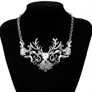 BUCK DEER SHAPED GIFT FASHION NEW 18K WHITE YELLOW GOLD GP CHAIN NECKLACE