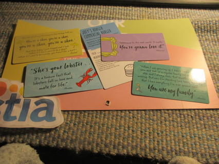 FRIENDS Quote Cards and Recipe card