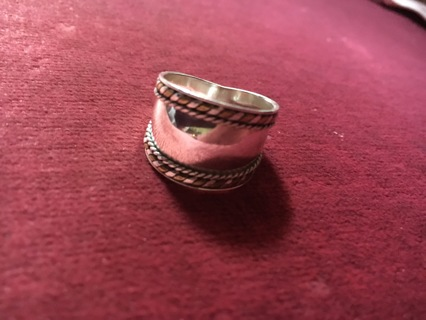 Stamped Sterling Silver Ring Size 7